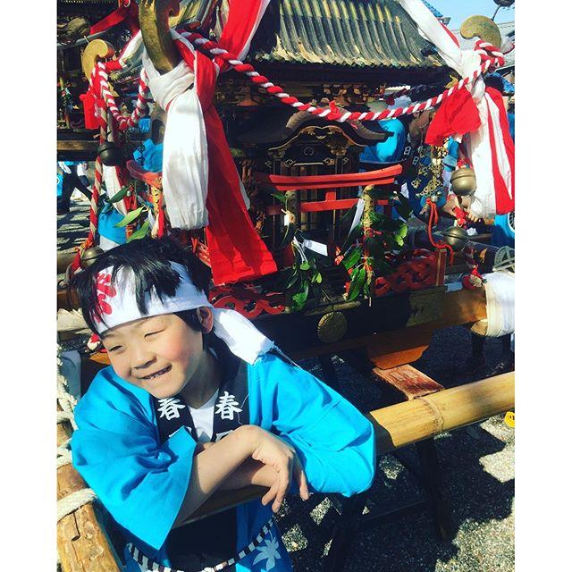 #お神輿わっしょい 息子二年生。念願の春のお祭り、お神輿わっしょいに参加しました。#春のお祭り