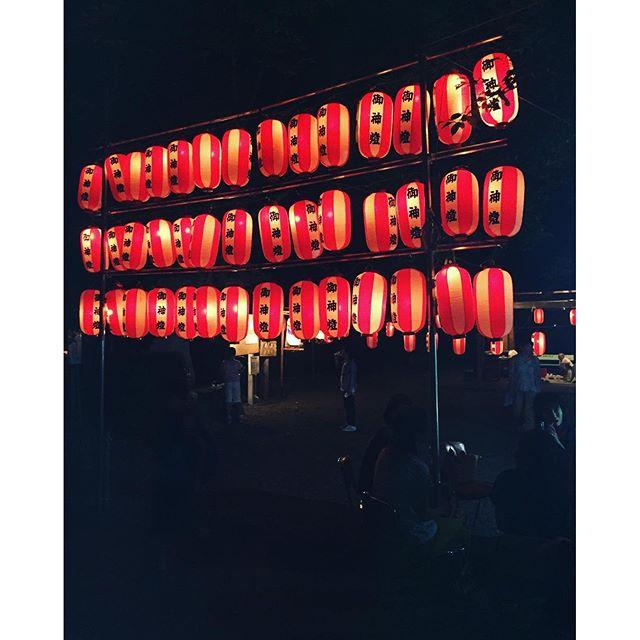 #万灯祭#小八木山の神#東近江市#夏祭り#夏休み近くの山の神さんで、夏のお祭り。万灯祭でした。