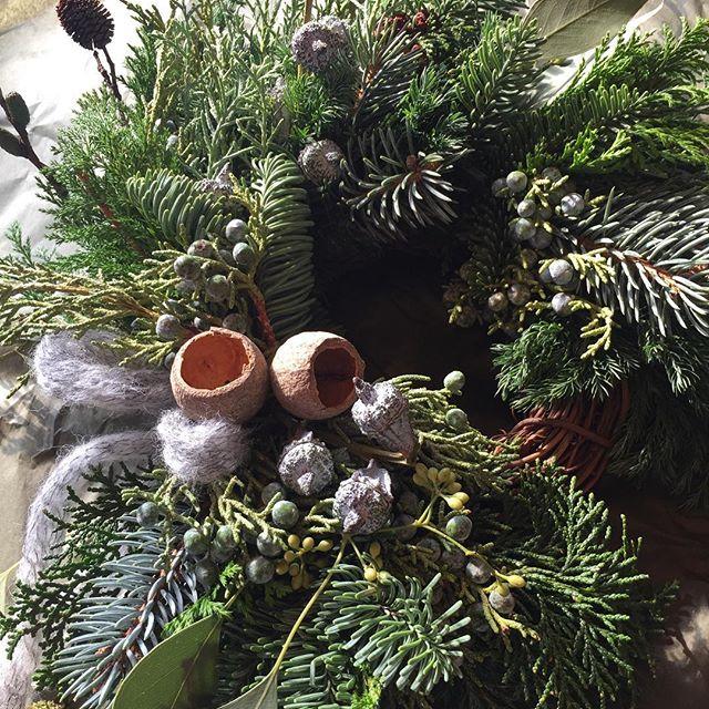 #Christmas#wreathe針葉樹をたっぷりと使った、wreatheができました。#ブルーバード#ブルーアイス#コヒバ#ヒノキ#ネズノミ#モミノキ#プンゲンスホプシー#ヤシャブシ#ポポラスベリー#クロボサス普段、中々庭作りには登場しにくい針葉樹達。楽しい新しい出会いや、発見にわくわくしましたよ。大好きな植物のこと。まだまだ私の知らないことがたくさんあって、興味はとことん増すばかりです。#光葉園#メデルガーデン