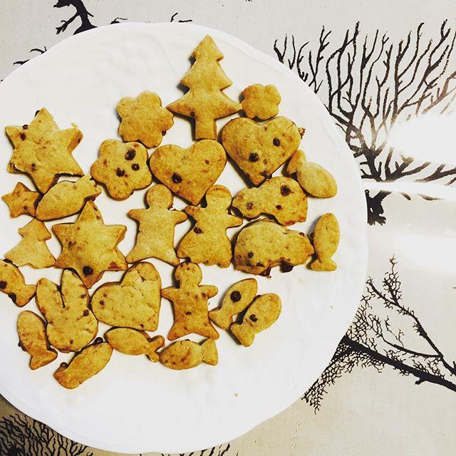 #クリスマスサンタさんを信じる長男、サンタは父親でわないかと感づき始めた次男。サンタがプレゼントを届けに来てくれた時用のお礼のクッキー作りました。#米粉クッキー材料は#米粉#バター#黒糖#休日は子供達と何か手作りしたいんです#手作り#ウミウチワ