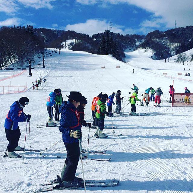 #スキー長男君のスキーデビュー⛷#福井県#冬の景色#今年は雪降らないなー