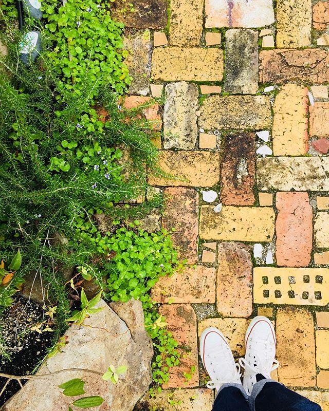 #レンガ名古屋の小牧にある、石材屋さんに来ています。来週から始まる庭づくりの石を取りに。#庭づくり#造園