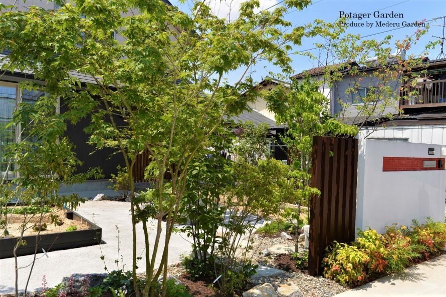 家庭菜園のある雑木の庭 草津市